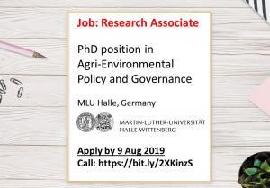 PhD Position in Agri-environmental Policy and Resource